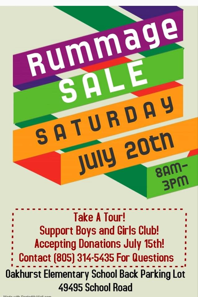 BGC Rummage Sale July 20